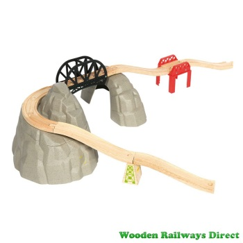 Bigjigs Wooden Railway Rocky Mountain Expansion Set