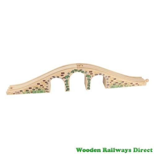 Bigjigs Wooden Railway Three Arch Bridge
