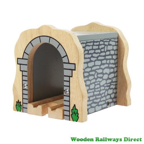 Bigjigs Wooden Railway Grey Stone Tunnel