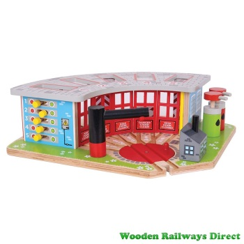 Bigjigs Wooden Railway Five Way Engine Shed