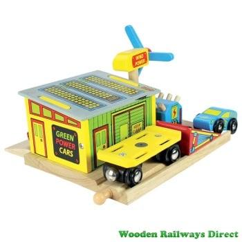 Bigjigs Wooden Railway Electric Car Station