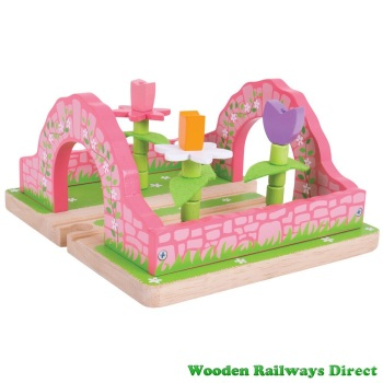 Bigjigs Wooden Railway Fairy Flower Garden