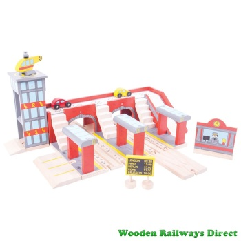 Bigjigs Wooden Railway Grand Central Station