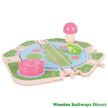 Bigjigs Wooden Railway Fairy Lilypad Turntable