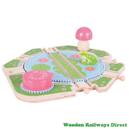 Bigjigs Wooden Railway Fairy Lilypad Turntable