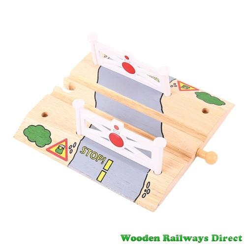 Bigjigs Wooden Railway Rail Level Crossing