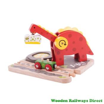 Bigjigs Wooden Railway Railway Dinosaur Crane