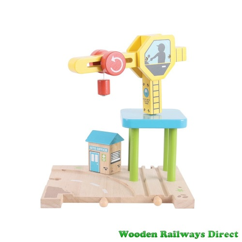 Bigjigs Wooden Railway Road and Rail Crane