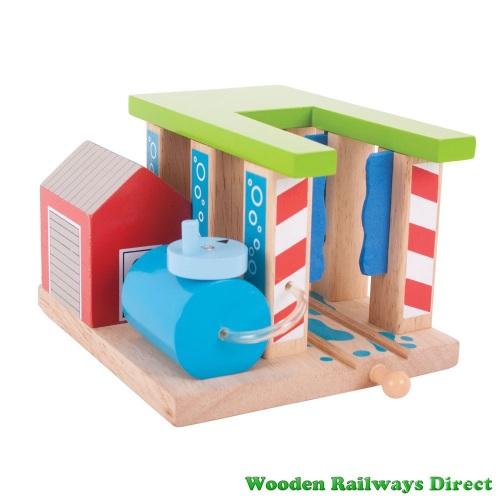 Bigjigs Wooden Railway Train Washer
