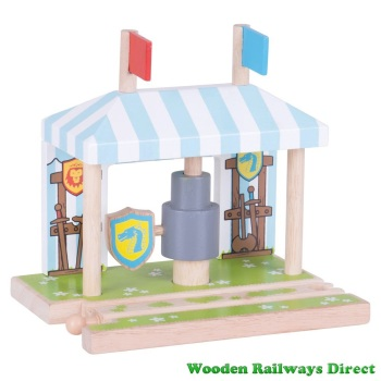 Bigjigs Wooden Railway Medieval Training Grounds