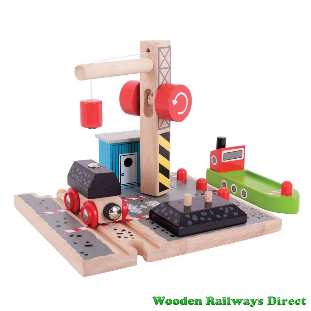 Bigjigs Wooden Railway Coal Canal Docks
