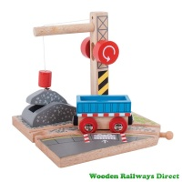 Bigjigs Wooden Railway Gravel Crane