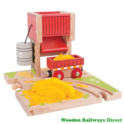 Bigjigs Wooden Railway Sand Tower