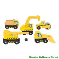 Bigjigs Wooden Railway Construction Site Vehicles