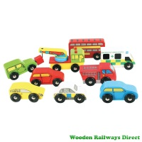 Bigjigs Wooden Railway Vehicle Pack