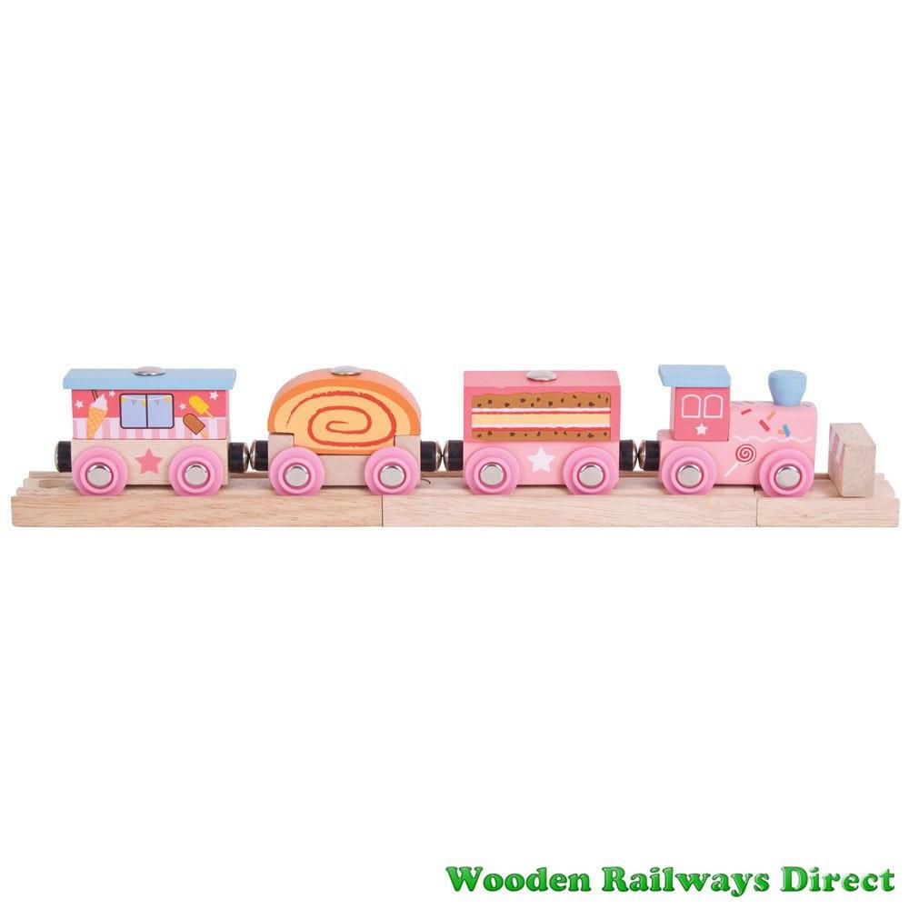 Bigjigs Wooden Railway Fairy Sweetland Express Train
