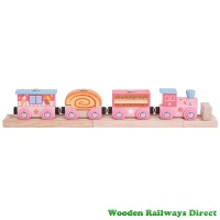 Bigjigs Wooden Railway Fairy Sweetland Express Train