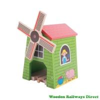 Bigjigs Wooden Railway Farm Country Windmill