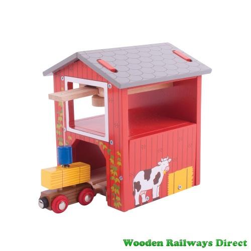 Bigjigs Wooden Railway Farm Hay Barn