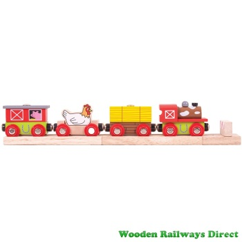 Bigjigs Wooden Railway Farmyard Train