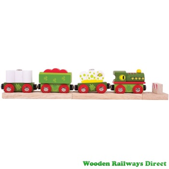 Bigjigs Wooden Railway Dinosaur Train