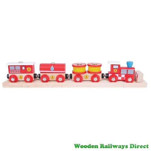 Bigjigs Wooden Railway Fire and Rescue Train