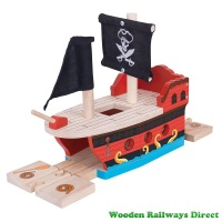 Bigjigs Wooden Railway Pirate Galleon