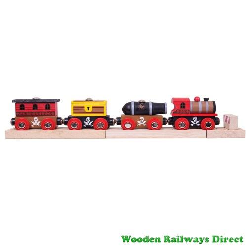 Bigjigs Wooden Railway Pirate Train