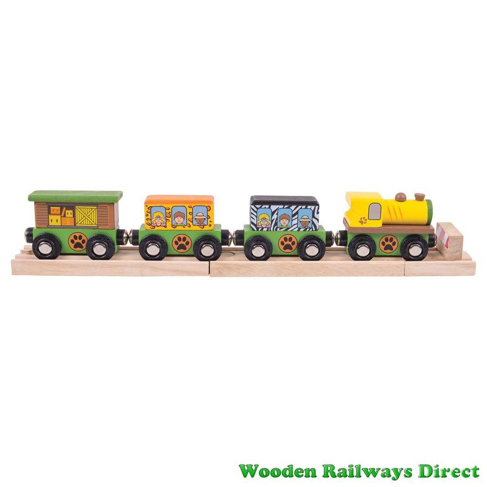 Bigjigs Wooden Railway Safari Train