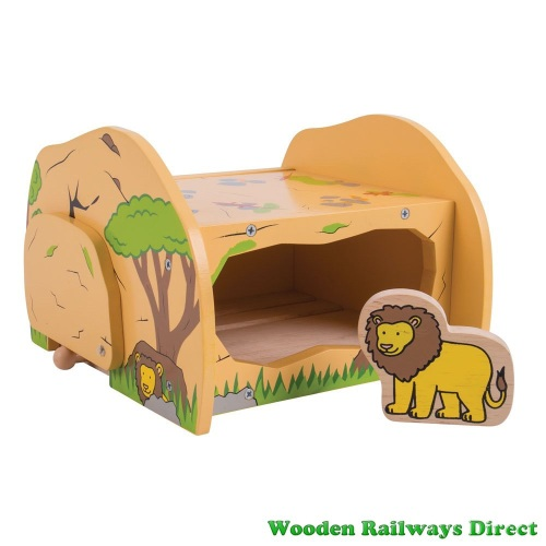 Bigjigs Wooden RailwaySafari Lions Den