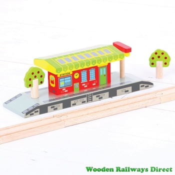Bigjigs Wooden Railway Village Station