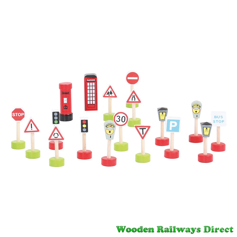 Bigjigs Wooden Railway Road Signs Pack
