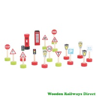 Bigjigs Wooden Railway Road Signs Pack