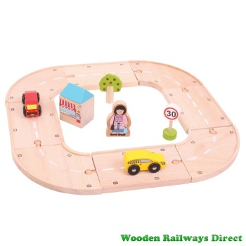 Bigjigs Wooden Railway My First Roadway