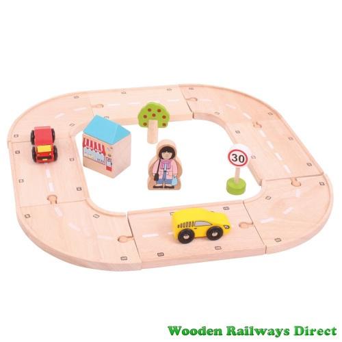 Bigjigs Wooden Railway My First Roadway