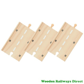 Bigjigs Wooden Railway Long Straight Roadway