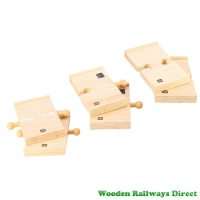 Bigjigs Wooden Railway Mini Straight Roadway