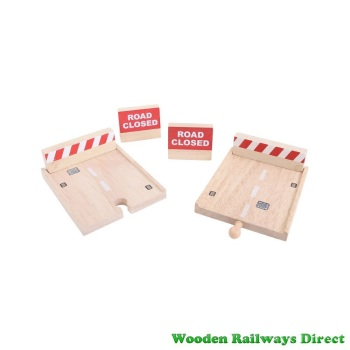 Bigjigs Wooden Railway Roadway Buffer Set