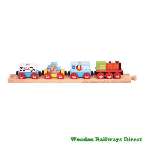 Bigjigs Wooden Railway Goods Train