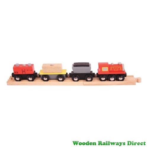 Bigjigs Wooden Railway Freight Train