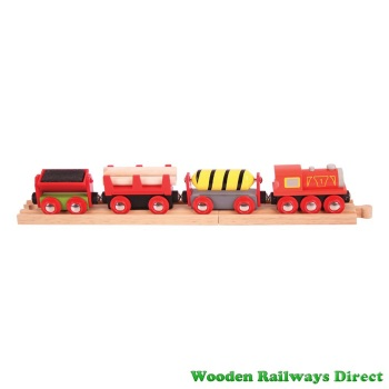 Bigjigs Wooden Railway Supplies Train