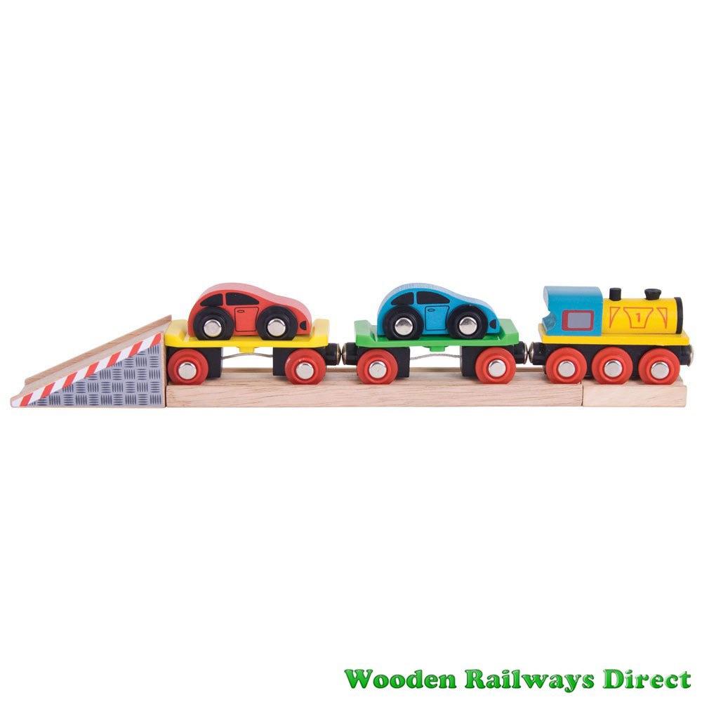 Bigjigs Wooden Railway Car Loader Train