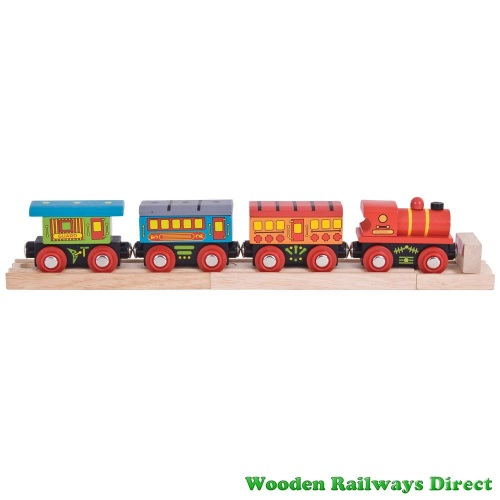 Bigjigs Wooden Railway Passenger Train
