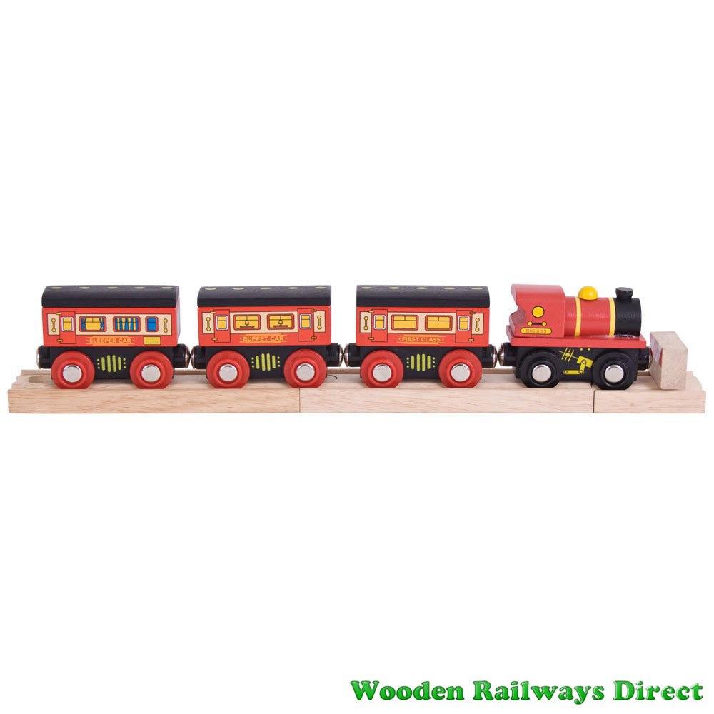 Bigjigs Wooden Railway Sleeper Train