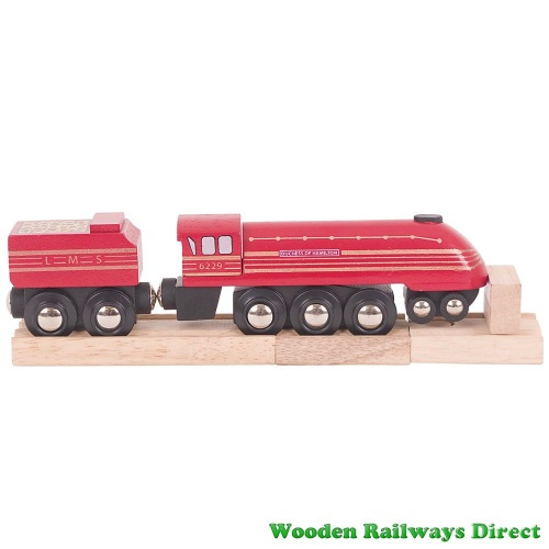 Bigjigs Wooden Railway Duchess of Hamilton Engine