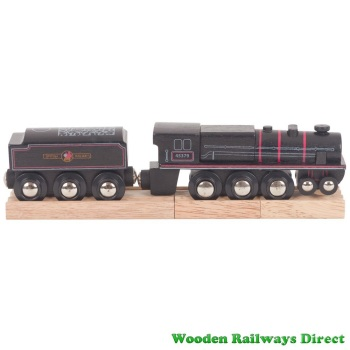 Bigjigs Wooden Railway Black 5 Engine