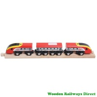 Bigjigs Wooden Railway Virgin Pendolino Train
