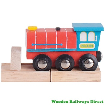 Bigjigs Wooden Railway Choo Choo Sound Train