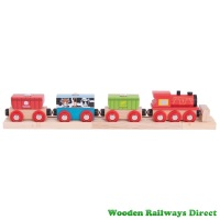 Bigjigs Wooden Railway Cereal Train