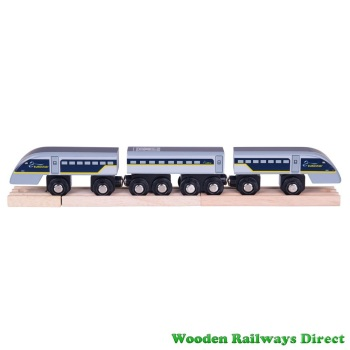 Bigjigs Wooden Railway Eurostar e320 Train